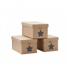 Krabica na topánky Natural 3ks