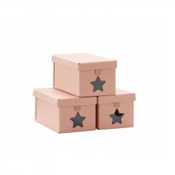 Krabice na boty 3ks Pink
