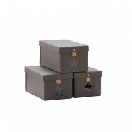 Krabice na boty 3ks Grey