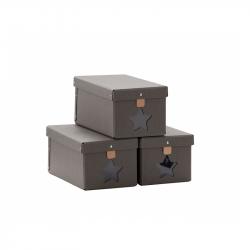 Krabica na topánky 3ks Grey