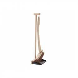 Lopatka se smetáčkem dřevěné Bistro