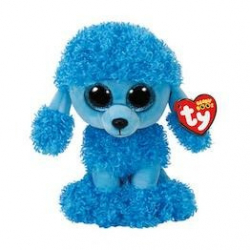 Beanie Boos plyšový psík sediaci modrý Pudlík 24 cm