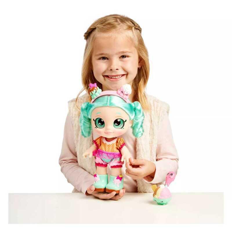 Kindi Kids - Lalka Peppa Mint + Akcesoria na przekąskę