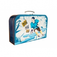 Kufrík Hokej modro / žltý 35 cm