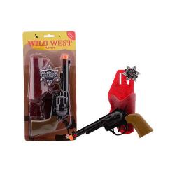 Revolver kovbojský se zvukem + šerifská hvězda