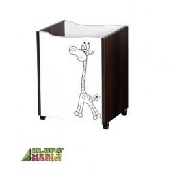 Box na hračky Safari - ecru/ořech