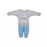 2-dílná dětská soupravička Koala Robin kočička šedo-modrá