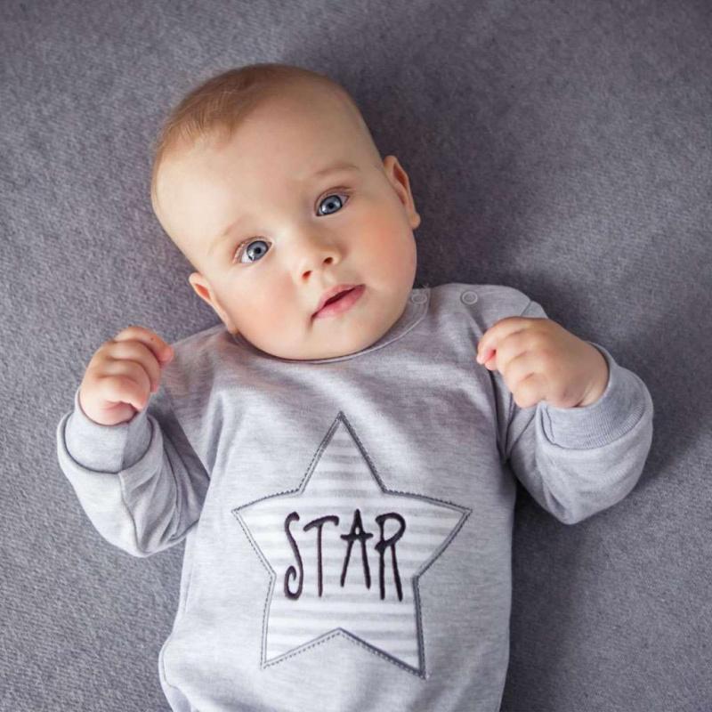 2-dielna kojenecká súprava Koala Star s pruhmi