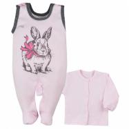 2-dílná kojenecká souprava Koala Anitka růžovo-šedá