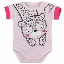 Dojčenské letné body Koala Sara ružové