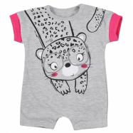 Dojčenský letný overal Koala Sara sivý