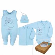 4-dielna kojenecká súprava Koala Fox Love modrá