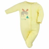 Kojenecký bavlněný overal Koala Happy Baby žlutý