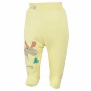 Kojenecké bavlněné polodupačky Koala Happy Baby žluté