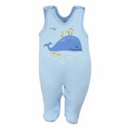 Dojčenské bavlnené dupačky Koala Happy Baby modré