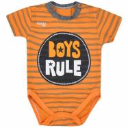 Kojenecké letní body Koala Boys Rule oranžové