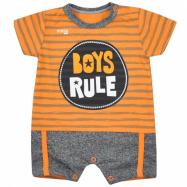 Dojčenský letný overal Koala Boys Rule oranžový