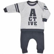 Dojčenské tepláčky a mikinka Koala Active svetlo šedá