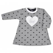 Dojčenské šatôčky s dlhým rukávom Koala Jessica sivo-béžove