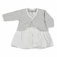 Dojčenské bavlnené šatičky s bolerkom Koala Dots smotanové