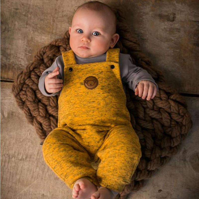2-częściowy komplet niemowlęcy Koala Koala w paski żółte