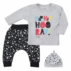 3-dielna detská súprava Koala Hip-Hip šedá