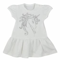 Dojčenské letné šaty Koala Unicorn Summer biele