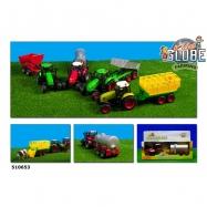Traktor kovový s přívěsem se světlem a zvukem