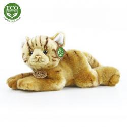 Plyšová kočka ležící 30 cm ECO-FRIENDLY