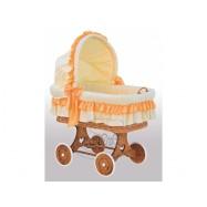Boudička k proutěnému košíku Martin oranžová