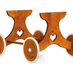 Drewniane podwozie do kosza wiklinowego