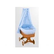 Proutěný košík s nebesy Méďa modrý