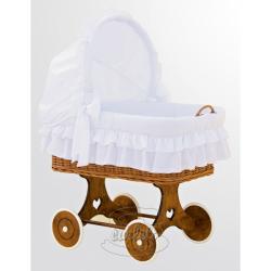 Proutěný košík s boudičkou Martin bílá