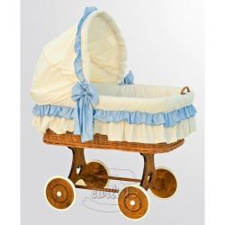 Proutěný košík s boudičkou Martin modrý