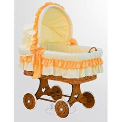Proutěný košík s boudičkou Martin oranžový