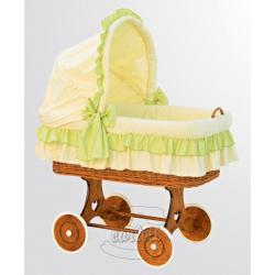 Proutěný košík s boudičkou Martin zelená
