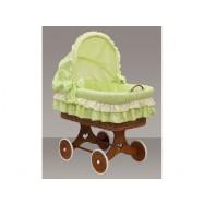 Proutěný košík s boudičkou Dráčik zelený