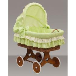 Proutěný košík s boudičkou Dráček zelený