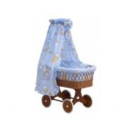 Proutěný košík s nebesy Mráček modrý