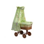 Proutěný košík s nebesy Mráček zelený