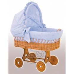 Boudička k proutěnému košíku Méďa modrá