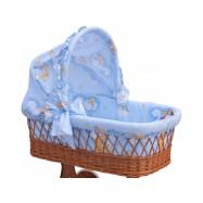 Boudička k proutěnému košíku Mráčik modrá