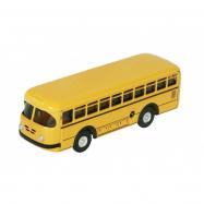 Autobus retro na klíček kov 19cm žlutý v krabičce Kovap