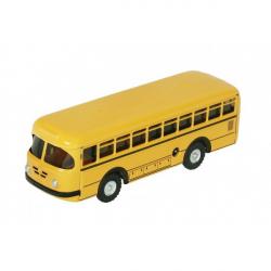 Autobus retro na kľúčik kov 19cm žltý v krabičke Kovap