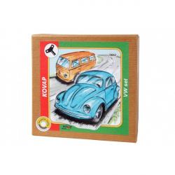 VW brouk+minibus set na klíček kov v krabičce Kovap