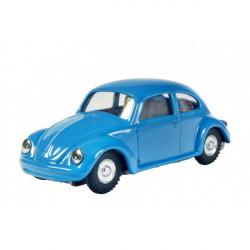 Auto VW chrobák na kľúčik kov 11cm modrej v krabičke Kovap