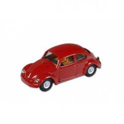 Auto VW beatle1200 červený kov 11cm v krabičke Kovap