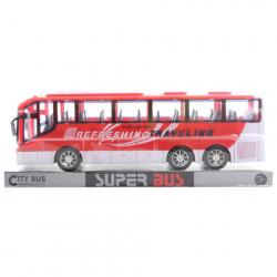 Autobus na zotrvačník červený