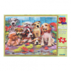 3D Puzzle Psy 48 dielikov
