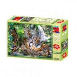 3D Puzzle Tygři 63 dielikov